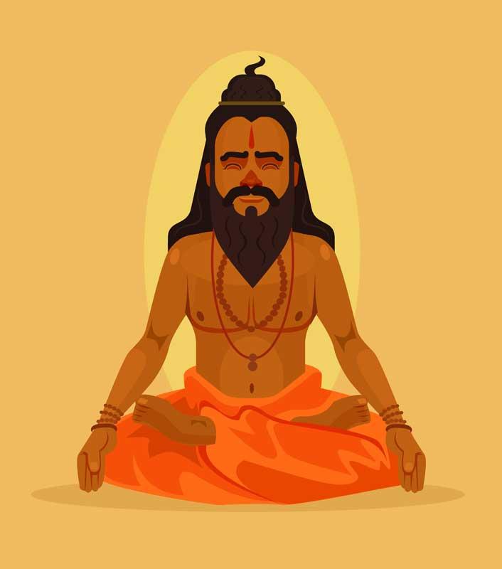 Hindu Yoga Red String adornments
