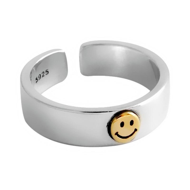 Adjustable Smiley Ring